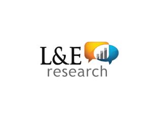 L & E Research logo