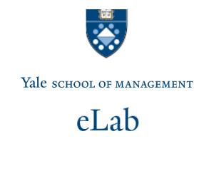 eLab Yale School of Management Logo