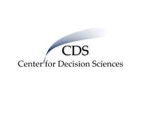 CDS Center for decision science logo